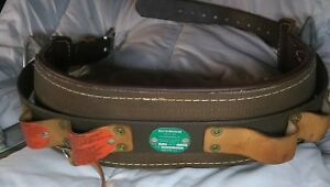 Buckingham Lineman Climbing Safety Belt Size 26 Dr Model Excellent Condition