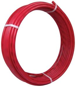 Pex Pipe Red 3 4 In X 300 Ft Water Supply Tubing Durable Underground Use