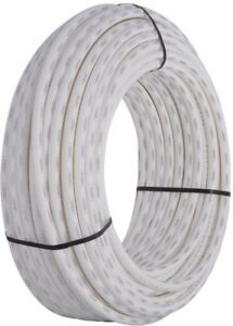 Pex Pipe White 3 4 In X 300 Ft Water Supply Tubing Durable Underground Use