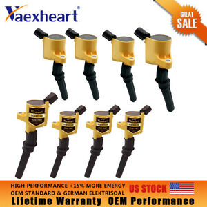 8 Pack High Performance Ignition Coil For Ford F150 F250 F550 4 6 5 4l V8 Dg508