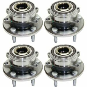 Front Rear Wheel Hub Bearing For 2011 2016 Ford Explorer W Lug Bolts 4 Pcs