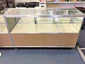 Half Vision Retail Commercial Glass Display Case Showcase Total Of Seven