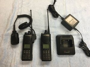 Pair Motorola Police Xts3000 P25 Digital 800mhz Radios Security Astro