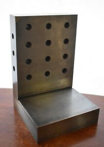 6 X 4 X 4 X 1 Steel Angle Plate With Back Holes Precision Ground Finishing