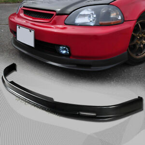 For 1999 2000 Honda Civic Mugen Style Polyurethane Pu Front Lower Bumper Lip