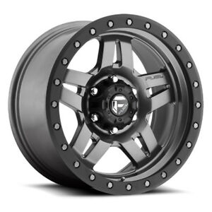 4 New 18 Inch Fuel D558 Anza 18x9 5x127 5x5 1mm Anthracite Wheels Rims