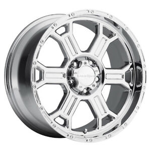 4 16 Inch Vision 372 Raptor 16x8 8x165 1 8x6 5 6mm Pvd Chrome Wheels Rims