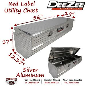 Dz8556 Dee Zee Aluminum Truck Toolbox Red Label Utility Chest Box 56