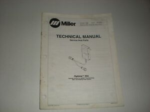Miller Optima 304 Technical Manual Oct 1996