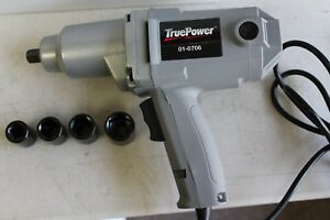 1 2 Electric Impact Wrench W 4 Sockets