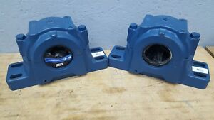 Lot Of 2 Skf Saf Safd 522 Split Pillow Block Housing 4 Bolt Base Ductile Iron