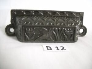 Antique Cast Iron Bin Drawer Pull 1880 S Era