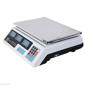 66lbs Home Kitchen Digital Weight Scale Retail Food Count Scale Ac 110v Useful