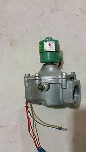 Used Asco Redhat Fuel Gas Solenoid Valve 8214080 2 In out 5 Psi 14 9 W 24v