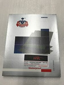 Auto Body Wet Sandpaper 9x11 400 Grit 50 Sheets Waterproof Fast