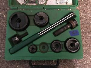 lotc1 Greenlee 7238sb Slug Buster Knockout Punch Set Complete 1 2 2