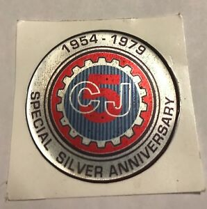 Jeep Cj5 Silver Anniversary Glove Box Door Emblem Recreation Free Shipping