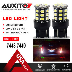 Auxito 2 Rear Turn Signal Light White 7443 Led Bulb For 03 17 Honda Accord Civic