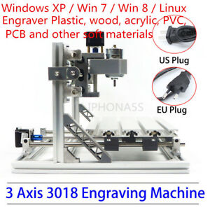 Mini Cnc Router 3018 Grbl Control Pcb Wood Engraver Mill Machine Er11 Collet