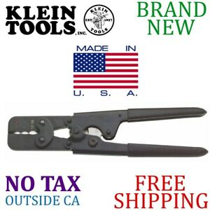 Made In Usa Klein Tools 9in Full cycle Ratcheting Crimper 4 Insulated Terminals
