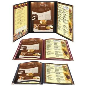 Non toxic Menu Covers Cafe Restaurant Club Diy Fold Book Style 8 5x11 8 5x14