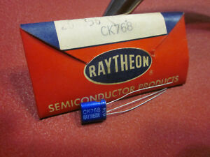 Raytheon Ck768 Transistor Vintage Blue Bodied Brand New In Package Vintage 1956