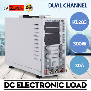Kl283 300w 80v 30a Lcd Dual Channel Dc Electronic Load Instrument Adjustable
