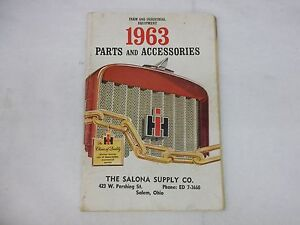 International Harvester Farmall 1963 Parts And Accessories Manual