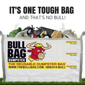 The Bullbag 8cuyd Construction Dumpster Bag Reusable Foldable Portable