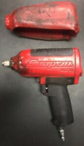 Snap On Mg725 1 2 Drive Pneumatic Heavy Duty Impact Wrench Red Air Tool Usa