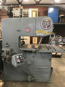 Doall Vertical Bandsaw 3612 vh Band Saw Contour Machine