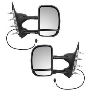 03 04 05 08 Ford E series Van Set Of Side Tow Power Mirrors Telescopic Dual Arms