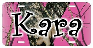 Personalized Monogrammed Custom License Plate Auto Car Tag Camo Pink