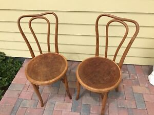 J And J Kohn Bentwood Chairs With Labels Made In Austria