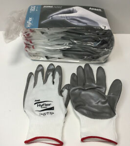 12 Pair Ansell Hyflex 11 830 Light duty Multipurpose Glove With Knitwrist Size 7