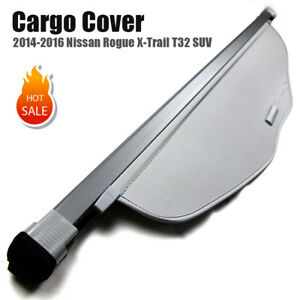 For 14 16 Nissan Rogue X trail T32 Retractable Trunk Cargo Cover Us Stock Gray