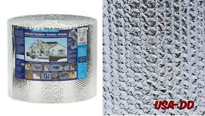 Reflective Double Insulation Roll Bubble Foil Radiant House Building 16 X 100ft