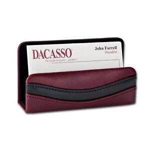 Dacasso Two tone Leather Business Card Holder