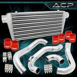 Fits 240sx 180sx 89 94 Ca18det Full Front Mount Tube Fin Intercooler Piping Pipe