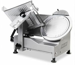 New Medium Duty 12 Commercial Belt Driven Meat Slicer With Sharpening Attachmnt