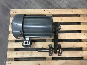 Us Motors H17440a Electric Motor 10 Hp With Drive Pulley And 1 Shaft