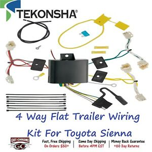 118648 Tekonsha T one 4 Way Flat Trailer Wiring Connector Kit For Toyota Sienna