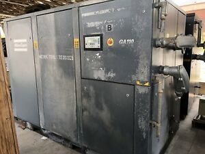 Atlas Copco 2002 Model Ga110 Air Compressor 15 000