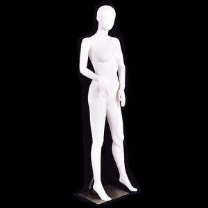 5 8ft Women Mannequin Manikin Display Metal Stand Plastic Full Body Mannequin