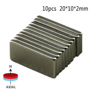 10 Pcs Big Super Rectangle Strong Large Ndfeb Magnetic Materials Neodymium N50