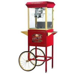 Princeton 6030 Red 8 oz Antique Popcorn Machine And Cart
