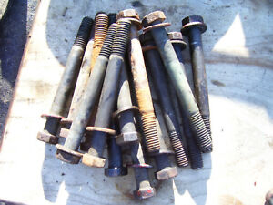 Original Ih Farmall 504 Gas Tractor c153 Engine Head Bolt Set 1962