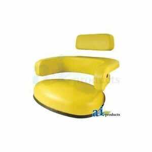 John Deere 3 Pc Yellow Vinyl Tractor Seat Cushion Set Replaces R34267