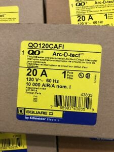 New Lot 20 Arc Fault Combination Breaker 1 Pole 20 Amp Qo120cafi