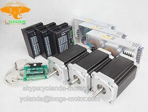 us Free Ship promote 3axis Nema34 Stepper Motor 1600oz in driver Cnc Router